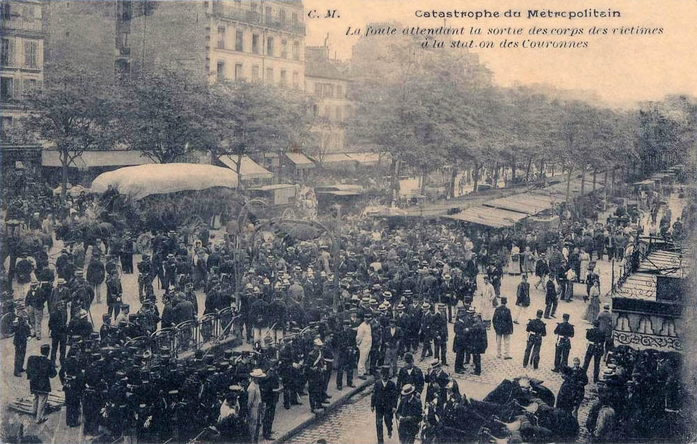 Photo de la catastrophe du Métropolitain de Paris, station Couronnes