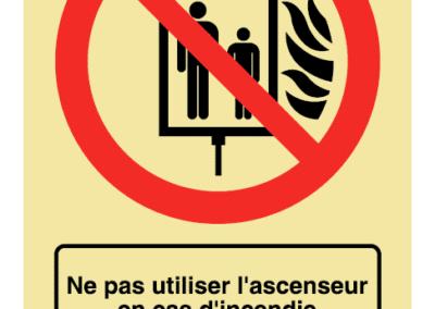 Ne pas utilisez l'ascenseur en cas d'incendie