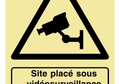 Site placé sous vidéosurveillance